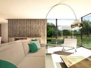 Projecto de Reabilitação e Ampliação : Salas de estar modernas por Daniel Antunes