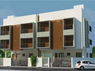 Porur Apartment:  Commercial Spaces by workroom