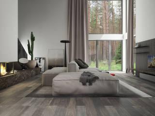 dom: styl , w kategorii Salon zaprojektowany przez oshi pracownia projektowa,