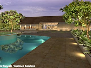 sony architect studio Piscine moderne