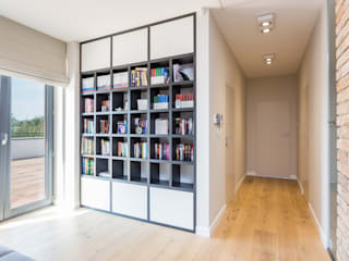 Modern Corridor, Hallway and Staircase by Modify- Architektura Wnętrz Modern