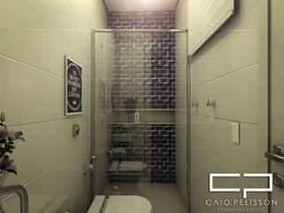 projeto de design de interiores casa terrea moderna integrada: Banheiros  por Caio Pelisson - Arquitetura e Design