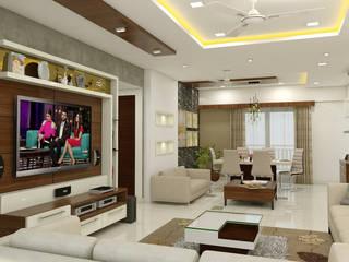 3 BHK flat @ Lodha Meridian Modern living room by shree lalitha consultants Modern