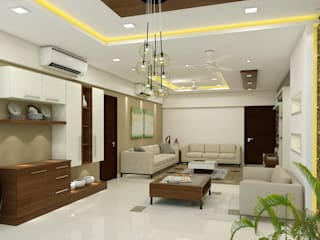 3 BHK flat @ Lodha Meridian Modern dining room by shree lalitha consultants Modern