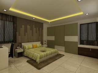 Master Bedroom:  Bedroom by Regalias India Interiors & Infrastructure