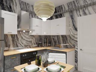 Кухня для друзей Кухня в стиле лофт от Дизайн интерьеров Лофт