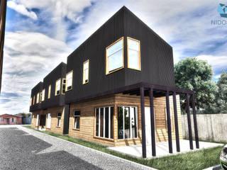 NidoSur Arquitectos - Valdivia Dom szeregowy Drewno O efekcie drewna