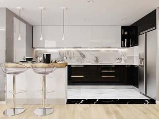 Nội thất căn hộ Novaland:  Nhà bếp by thiết kế kiến trúc CEEB