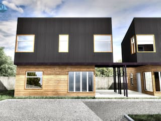 NidoSur Arquitectos - Valdivia Terrace house Wood Black