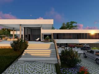 Casa de Campo RG: Casas do campo e fazendas  por Eleve Arquitetura,Moderno