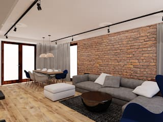 Гостиная в стиле лофт от Piec Piąty Лофт