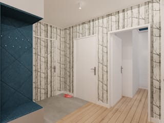 Коридор, прихожая и лестница в модерн стиле от Piec Piąty Модерн