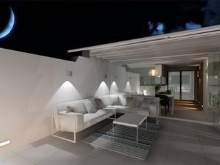 Apartamento de Verano en Aguadulce Almería: Terrazas de estilo  de CARMAN Interiorismo Murcia