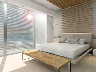 Apartamento de Verano en Aguadulce Almería: Dormitorios de estilo  de CARMAN Interiorismo Murcia