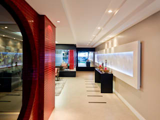 Áreas de Lazer - Edifício Nantai Corredores, halls e escadas modernos por SZ ARQUITETURA Moderno