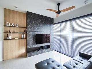 Sky Vue Scandinavian style living room by Eightytwo Pte Ltd Scandinavian