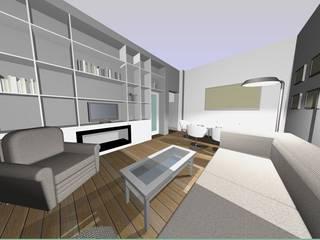 Ristrutturazione appartamento signorile - Genova - Soggiorno moderno di Studio Messina Moderno