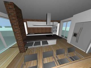 Ristrutturazione attico - Milano -: Cucina attrezzata in stile  di Studio Messina