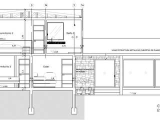corte en planos :  de estilo  por Cerni.arquitectura
