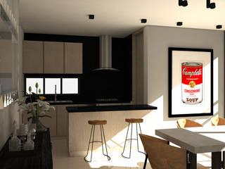 Diseño interior Apartamento con estilo industrial: Cocinas de estilo  por ecoexteriores