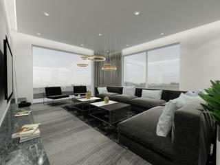 salon: styl , w kategorii  zaprojektowany przez Inspired Design