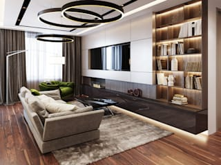 Квартира в Новопеределкино Гостиная в стиле минимализм от MonDesign Минимализм