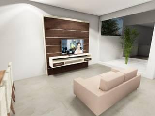 Modern Living Room by Rudini Rodarte Arquitetura e Construção Modern