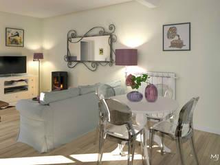 La pièce à vivre: Salle à manger de style de style Classique par MJ Intérieurs