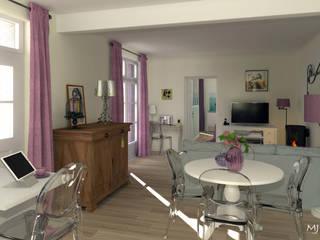 La pièce à vivre vue de la cuisine: Salle à manger de style de style Classique par MJ Intérieurs
