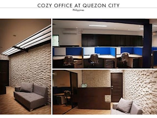 Office at Quezon City:   by SNS Lush Designs and Home Decor Consultancy