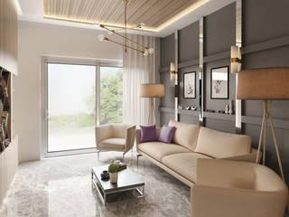 Private Apartment Endüstriyel Oturma Odası H9 Design Endüstriyel