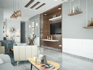 Private Apartment :  Living room by H9 Design