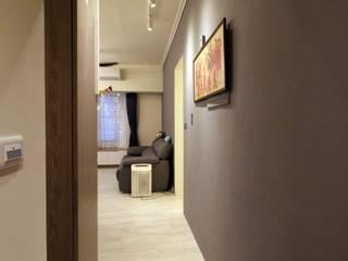 高雄三民 林公館 斯堪的納維亞風格的走廊,走廊和樓梯 根據 協億室內設計有限公司 北歐風