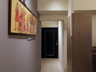 Couloir, entrée, escaliers scandinaves par 協億室內設計有限公司 Scandinave