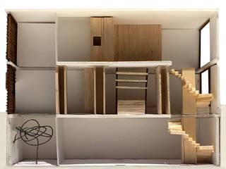 Maqueta lateral: Casas unifamilares de estilo  de projectelab