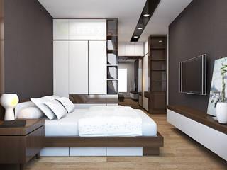 Modern Bedroom by CÔNG TY TNHH THIẾT KẾ VÀ XÂY DỰNG GREEN SPACE Modern