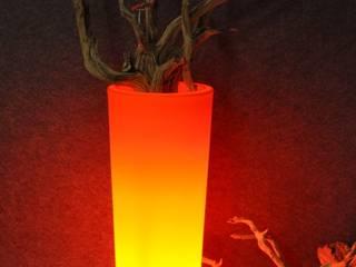 Beleuchtete Pflanzgefäße CONO arts&more - Raumbegrünung Balkon, Veranda & TerrasseBeleuchtung Orange