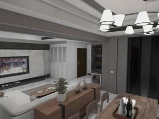 電視牆、衣物櫃、餐櫃、酒櫃及客廳空間示意圖:   by Gavin室內裝修設計