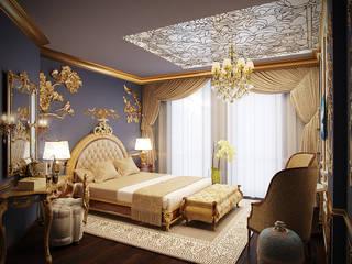 Коттедж в Москве Спальня в классическом стиле от Anna Vladimirova Классический