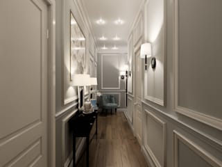 Classic style corridor, hallway and stairs by MonDesign Classic