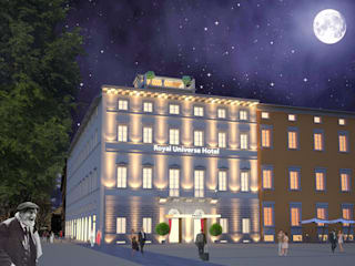 Royal Universe Hotel: Hotel in stile  di Studio Bertolini Galli