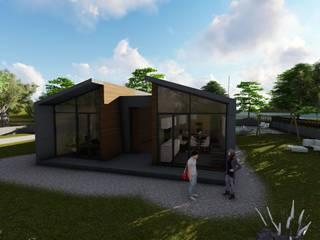Casas estilo moderno: ideas, arquitectura e imágenes de A-kotar Moderno