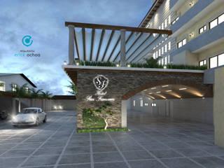 Remodelación Hotel San Francisco. Tap. Chiapas: Garajes de estilo  por ARQ. ERICK OCHOA