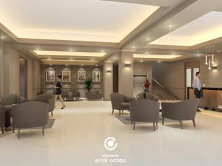 Remodelación Hotel San Francisco. Tap. Chiapas: Pasillos y recibidores de estilo  por ARQ. ERICK OCHOA