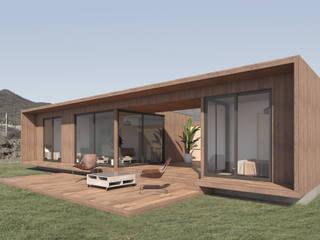 Vivienda Los Choros: Cabañas de estilo  por Uno Arquitectura