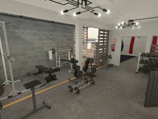 Academia de artes marciales y deportes de contacto Gimnasios domésticos industriales de Summa Arquitectura Industrial