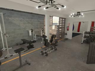 Área de pesas: Gimnasios de estilo  por Summa Arquitectura