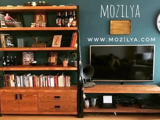 Mozilya Mobilya – Cross doğal ahşap kitaplık:  tarz