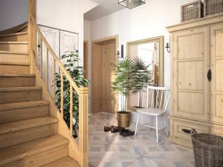 Przedwojenny dom na wsi pod Wrocławiem w stylu Vintage/Country- Mokry Dwór: styl , w kategorii  zaprojektowany przez TETE concept,