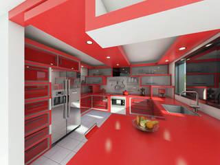 Remodelacion cocina.: Muebles de cocinas de estilo  por Arq. Yofrank Diaz